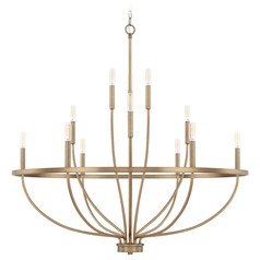 Homeplace By Capital Lighting Greyson Aged Brass Chandelier