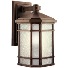 Kichler Outdoor Wall Light with White Glass in Prairie Rock Finish