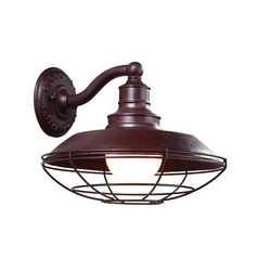 Outdoor Wall Light in Old Rust Finish