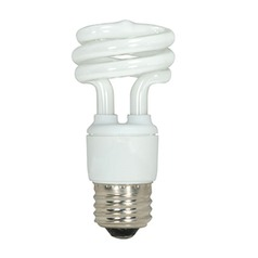 Satco Lighting 11-Watt Warm White Mini Compact Fluorescent Light Bulb S7214