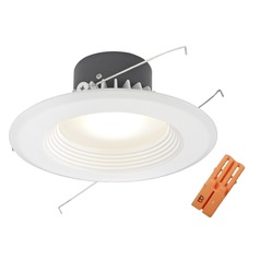 LED White Baffle Retrofit Trim with Title 24 Converter for 5 or 6 Inch Recessed Cans