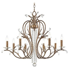 Livex Lighting Serafina Hand Applied Venetian Golden Bronze Crystal Chandelier