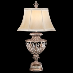 Fine Art Lamps Winter Palace Antiqued Silver Table Lamp with Bell Shade