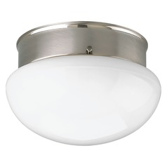 Progress Lighting Fitter Brushed Nickel Flushmount Light