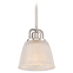 Quoizel Lighting Dublin Brushed Nickel Mini-Pendant Light with Bowl / Dome Shade