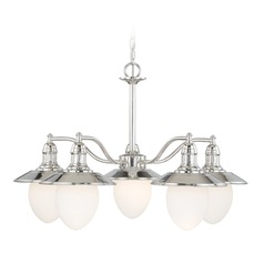 Marina Bay Polished Nickel Chandelier by Vaxcel Lighting