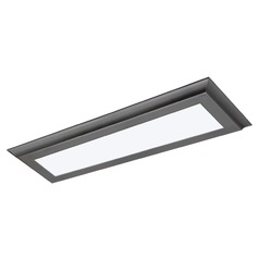 Nuvo Blink Plus Gunmetal Grey Linear LED Flushmount Light 3000K 1600LM