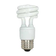 11-Watt Cool White Mini Compact Fluorescent Light Bulb