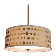 Design Classics Lighting Modern Drum Shade Pendant Light in Bronze Finish DCL 6528-604 SH7490  KIT