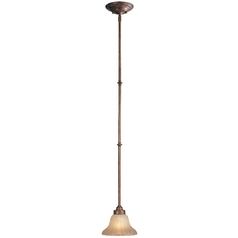 Dolan Designs Lighting Mini-Pendant with Amber Iridescent Glass 1371-60