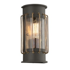Frosted Seeded Glass LED Outdoor Wall Light Bronze Troy Lighting