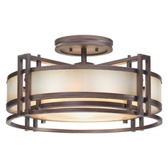 Underscore Cimmaron Bronze Semi-Flushmount Light