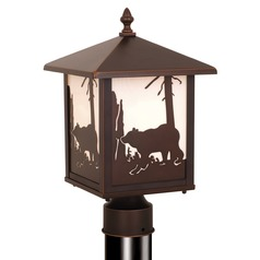 Bozeman Burnished Bronze Post Light by Vaxcel Lighting