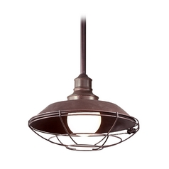 Troy Lighting Outdoor Hanging Light in Old Rust Finish F9273OR