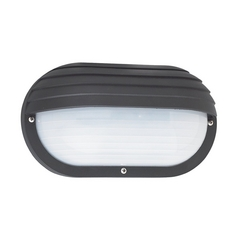 Energy Star Rated Black Oval Bulkhead Wall Light