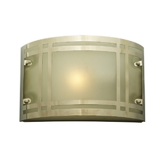 Modern Outdoor Wall Light with White Glass in Polished Chrome Finish