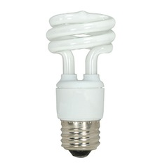 11-Watt Mini Compact Fluorescent Light Bulb