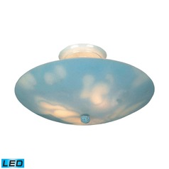 Elk Lighting Kidshine White LED Semi-Flushmount Light
