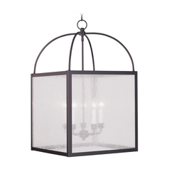Livex Lighting Milford Bronze Pendant Light with Square Shade