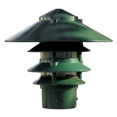 Green Cast Aluminum Four Tier Pagoda Light with 3.00