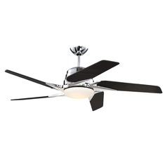 Craftmade Lighting Solo Encore Chrome LED Ceiling Fan with Light