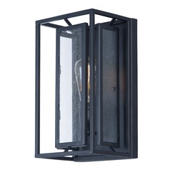 Seeded Glass Sconce Black Maxim Lighting