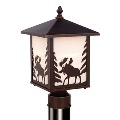 Yellowstone Burnished Bronze Post Light by Vaxcel Lighting