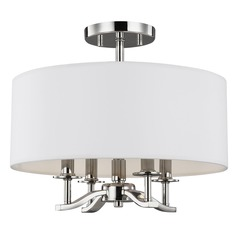 Sea Gull Lighting Hewitt Polished Nickel Semi-Flushmount Light
