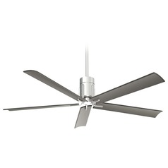 Minka Aire Clean Polished Nickel LED Ceiling Fan with Light