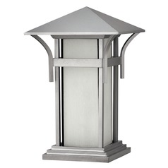 Pier Light with White Glass in Titanium Finish