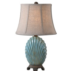 Uttermost Seashell Blue Buffet Lamp