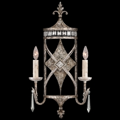 Fine Art Lamps Winter Palace Antiqued Silver Sconce
