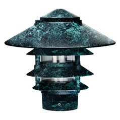 Verde Green Cast Aluminum Four Tier Pagoda Light with 3.00