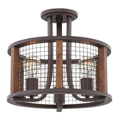 Farmhouse Bronze Semi-Flush Light by Hinkley Lighting