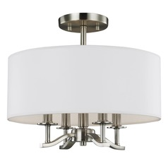 Sea Gull Lighting Hewitt Satin Nickel Semi-Flushmount Light