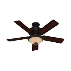 Hunter Fan Company Italian Countryside Cocoa Ceiling Fan with Light