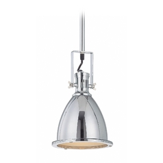 Lite Source Lighting Kartik Chrome Mini-Pendant Light with Bell Shade