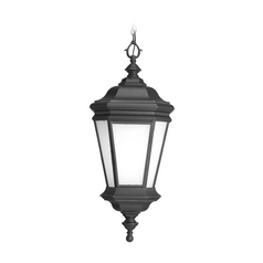 Progress Lighting Outdoor Hanging Light with White Glass in Black Finish P6519-31
