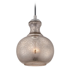 Quoizel Lighting Sonia Artica Mini-Pendant Light with Bowl / Dome Shade