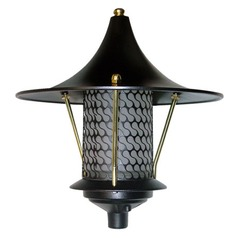 Black Cast Aluminum Flair Top Pagoda Light