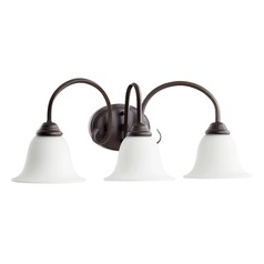 Quorum Lighting Spencer Oiled Bronze Bathroom Light