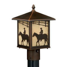 Trail Burnished Bronze Post Light by Vaxcel Lighting