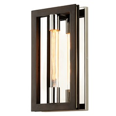 Troy Lighting Enigma Bronze with Polished Stainless Sconce