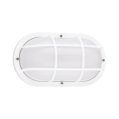 Energy Star Rated Oval White Bulkhead Light Fixture