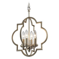 Elk Lighting Chandette Aged Silver Pendant Light
