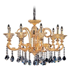 Legrenzi 9 Light Crystal Chandelier w/ Two-Tone Gold 24k