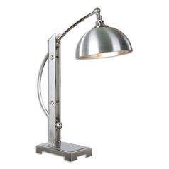 Uttermost Malcolm Brushed Nickel Desk Lamp