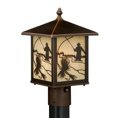 Mayfly Burnished Bronze Post Light by Vaxcel Lighting