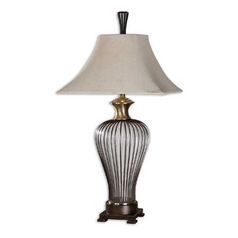 The Uttermost Company Table Lamp with Natural / Beige Shade 26752