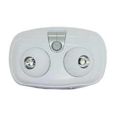 LED Security Light with Motion Sensor in White Finish